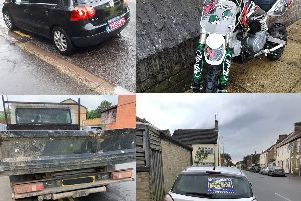 Vehicles seized in the past few days