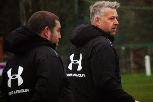 Holwell boss Neil Miller (right) and assistant manager Richard Cragg took over last October EMN-190619-130340002