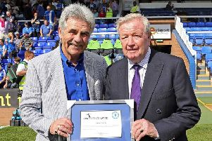 Ron Cooper (right) with club historian Peter Lane