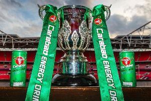 The Carabao Cup Trophy.