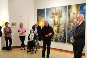 The Graham Crowley exhibition launch.