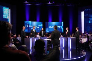 The Channel 4 Conservative leadership debate. Photo: Tim Anderson/Channel 4/PA Wire
