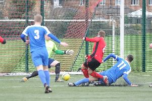 Netherton United in action at the Grange