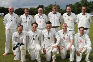 The Caistor CC First XI, from left, back - Sean Woolley, Jim Parker, Mick Francis, Paul Jackson, Danny Bevis, Peter Briggs; front - Peter Jacob, Luke Francis, Kieran Brooker (capt), Rory Ronaldson, Harry Boulton PICTURE: Peter Thompson EMN-190624-101340002