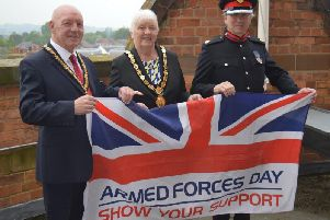 Council vice chairman Stephen Bilbie, chairman Barbara Johnson and Deputy Lieutenant Richard Clowes