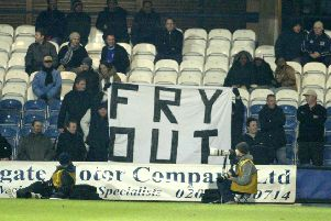 Posh fans used to protest at Barry Fry's management.