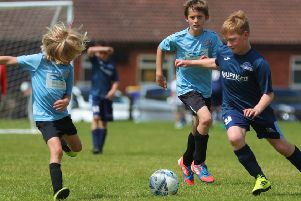 Asfordby FC youngsters take on Desford on Saturday. Picture: Phil James EMN-190626-084809002