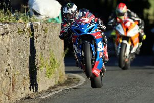 Michael Dunlop in action at the Southern 100 on his last appearance at the event in 2017.
