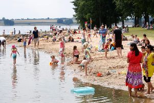 The beach at Rutland Water