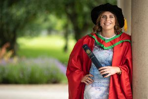 Katie Mullan who received the honorary degree of Doctor of Science (DSc) for outstanding services as captain of the Ireland ladies hockey team.