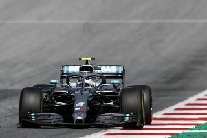 Valtteri Bottas on his way to third place in Sunday's Austrian Grand Prix