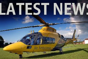 The air ambulance attended the incident EMN-190507-110723001