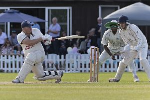 Gary Freear cracked 112 for Wisbech Town against March Town in Rutland Division One. Photo: Pat Ringham.