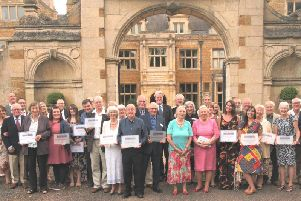 The Northamptonshire Heritage Forum 2019 award winners at Holdenby House last Thursday.