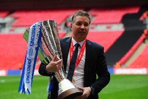 Manager Darren Ferguson after Posh had won the 2013-14 EFL Trophy Final at Wembley.