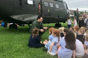 The school visit by the RAF