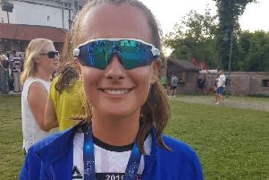 Keely McNiffe with the European gold medal proudly hanging around her neck EMN-191107-123610002