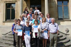 The hospice's volunteers who were recognised for their dedication