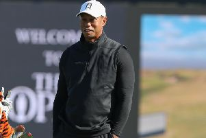 Tiger Woods pictured during one of the practice rounds at Royal Portrush