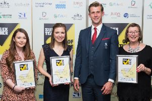 Crawley District winners with Olympian Jack Green