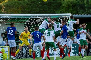 The Rocks put the pressure on Pompey / Picture by Tommy McMillan