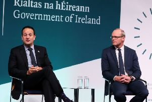 Leo Varadkar and Simon Coveney. As the Irish government points accusing fingers at the UK government over issues such as the Hooded Men, they deny justice by denying information