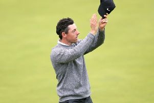 Rory McIlroy appears dejected after the 18th green. David Davies/PA