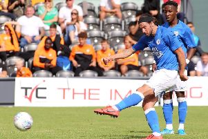 George Boyd in action for Posh at Barnet. Photo: Joe Dent/theposh.com.