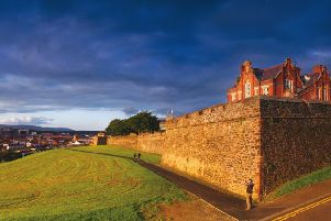 The building of Derry's Walls was completed 400 years ago.