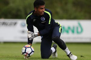 Robert Sanchez. Picture courtesy of Paul Hazlewood/BHAFC.