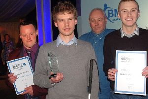 Michael Whapples with the Disability Sportsperson of the Year award at this year's Melton Times EMN-190730-113754002