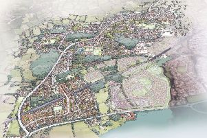Plans for new homes west of Ifield