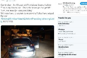 A tweet from the BCH Road Policing account
