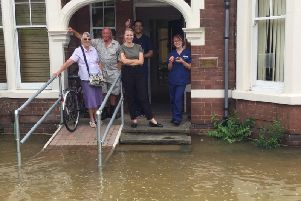 Flooding outside London Road Dental Practice