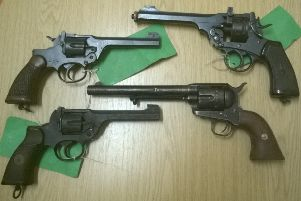 Some of the guns handed in during the amnesty in Cambridgeshire and Bedfordshire