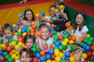 Buckingham Play Around the Parishes in Chandos Park - youngsters enjoying the ball pit