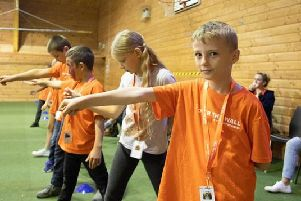 Samuel at an Over The Wall camp in 2017.