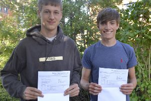 Josh Hutchinson and Max Gault, both of whom achieved 3A* in their A Levels, and'will study at Cambridge and Durham respectively.
