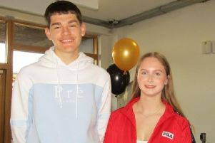 Kyle Lynch and Amber James were thrilled with their results