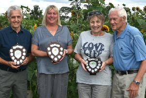 The winners of the Winslow Allotment Shields competition