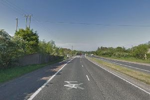The A1 dual carriageway near Banbridge which is closed in both directions. Picture: Google Streetview