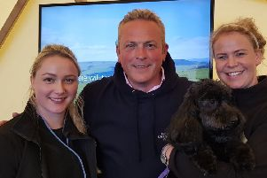 Jules Hudson with Selina West and Anna Pollard at Castle Howard.
