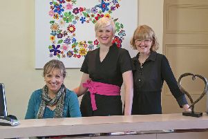 From left, Lynn Buckle, receptionist, Alexa Hillier, director, and Tina Parsons, director.