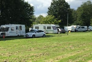 There are still 14 caravans on site