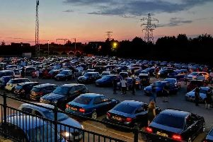 The static car meet at Pleasure Fair Meadow Car Park in Oundle Road