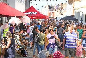 DM1985439a.jpg. Chichester BID hosts a Street Party in Chichester as part of a Love Local, Shop Local campaign. Photo by Derek Martin Photography.