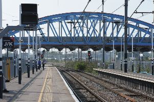 Peterborough Station during the East Coast Main Line closure