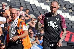 Marcus Maddison at stadium:mk last weekend. Photo: Joe Dent/theposh.com.