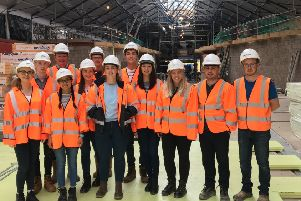 Members of the Institution of Structural Engineers Young Members' Group to the North-West Transport Hub site at the Grade B-listed Waterside Train Station in Derry