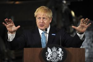 Prime Minister Boris Johnson giving a speech. Photo: Rui Vieira/PA Wire PPP-190727-142328003